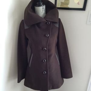 EUC Mackage chocolate brown coat